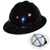 Bullard S71BKR Standard Full Brim Hard Hat - Ratchet Suspension - Black