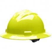 Bullard S71HYR Standard Full Brim Hard Hat - Ratchet Suspension - Hi-Viz Yellow
