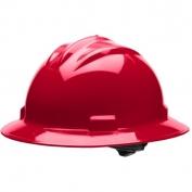 Bullard S71RDR Standard Full Brim Hard Hat - Ratchet Suspension - Red