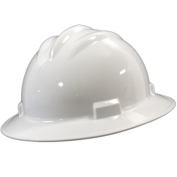 Bullard S71WHR Standard Full Brim Hard Hat - Ratchet Suspension - White