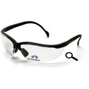 Pyramex V2-Readers Safety Glasses - Black Frame - Clear Bifocal Lens