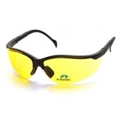 Pyramex V2-Readers Safety Glasses - Black Frame - Amber Bifocal Lens