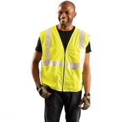 OK-1 SCL Class 2 Premium Mesh/Solid Gloss Vest - Yellow/Lime