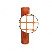 Resinet Square Mesh Fence 4x50 ft - Orange