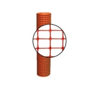 Resinet Lightweight Square Mesh Barrier Fence - 4 ft x 100 ft - Orange