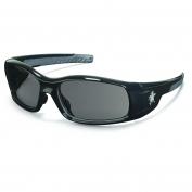 Crews Swagger Safety Glasses - Black Frame - Gray Lens