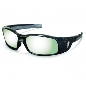 Crews Swagger Safety Glasses - Black Frame - Silver Mirror Lens