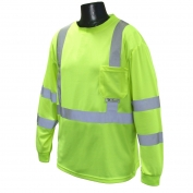 Radians ST21-3PGS Class 3 Mesh Safety Shirt - Yellow/Lime