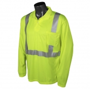 Radians ST22-2PGS Class 2 Mesh Safety Polo - Yellow/Lime