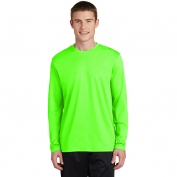 Sport-Tek ST340LS PosiCharge RacerMesh Long Sleeve Tee - Neon Green