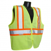 Radians SV225-2ZGM Class 2 Self-Extinguishing Two-Tone Safety Vest - Yellow/Lime