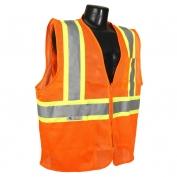 Radians SV225-2ZOM Class 2 Self-Extinguishing Two-Tone Safety Vest - Orange