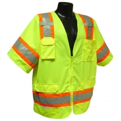 Radians SV63G Two-Tone Class 3 Surveyor Safety Vest - Yellow/Lime