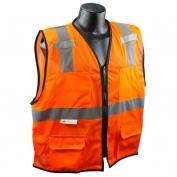 Radians SV7E-2ZOM Economy Class 2 Surveyor Safety Vest - Orange