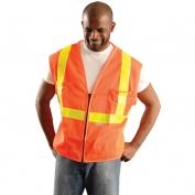 OK-1 SVOML Class 2 Premium Mesh Gloss Vest - Orange - Yellow Tape
