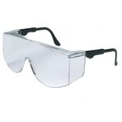 Crews Tacoma Safety Glasses - Black Frame - Clear Lens - Fits Over Prescription Glasses
