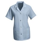 Red Kap Women\\\'s Loose Fit Short Sleeve Smock - Button Front - Light Blue