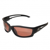 Edge TSK215 Kazbek Safety Glasses - Black Rubberized Frame - Copper Polarized Lens