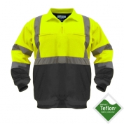 Utility Pro Wear UPA542-Lime-Blk Class 3 Soft Shell 1/4 Zip Pullover - Lime/Black