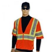 Full Source US2OM31 ANSI Class 2 Mesh Short Sleeve Safety Vest - Orange