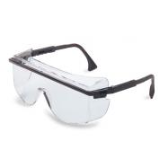 Uvex Astro OTG 3001 Safety Glasses - Black Frame - Clear Anti-Fog Lens