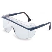Uvex Astro OTG 3001 Safety Glasses - Blue Frame - Clear Lens