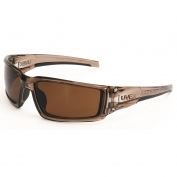 Uvex S2969 Hypershock Safety Glasses - Smoke Brown Frame - Espresso Polarized Lens