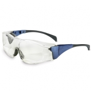 Uvex Ambient Safety Glasses - Blue Frame - Clear Anti-Fog Lens