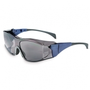 Uvex Ambient Safety Glasses - Blue Temples - Gray Anti-Fog Lens
