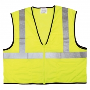 River City VCL2MLZ Economy Class 2 Mesh Safety Vest with Zipper - Yellow/Lime