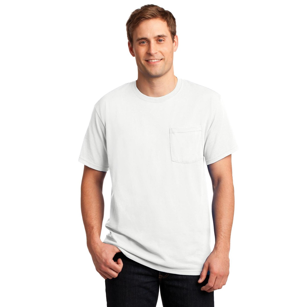 Jerzees 29mp Heavyweight Blend T Shirt With Pocket White