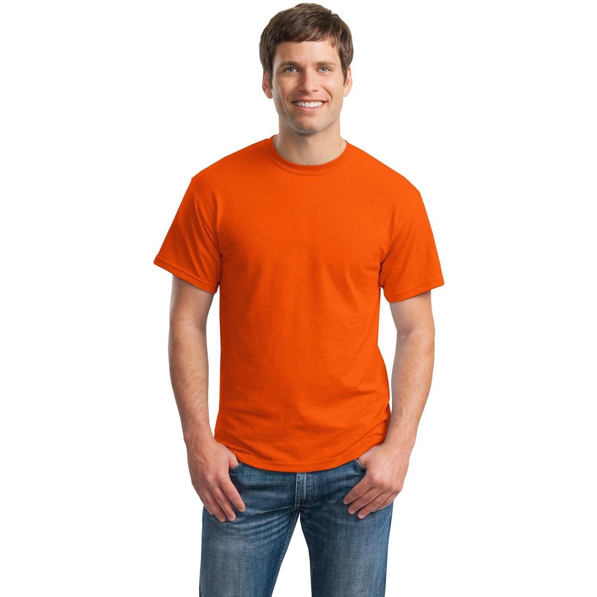 Gildan 8000 dryblend t shirt orange for Gildan 8000 t shirt