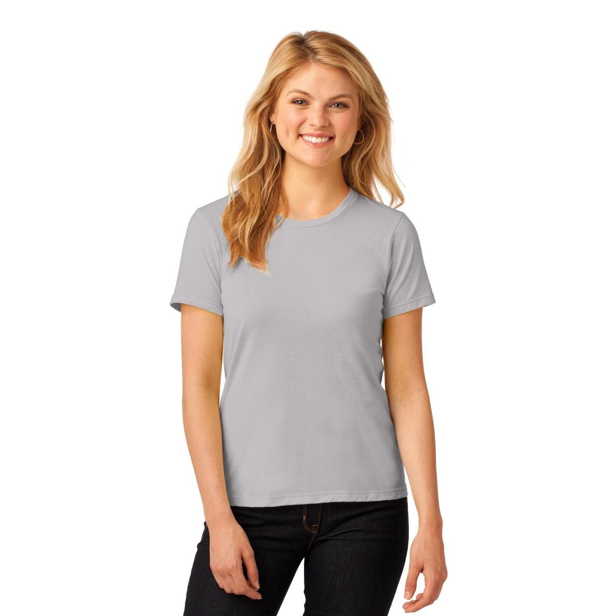 Anvil 880 ladies 100 ring spun cotton t shirt silver for 100 ringspun cotton t shirt wholesale