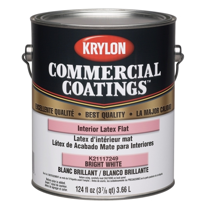 Krylon Commercial Coatings Best Quality Interior Latex Paint 1 Gallon