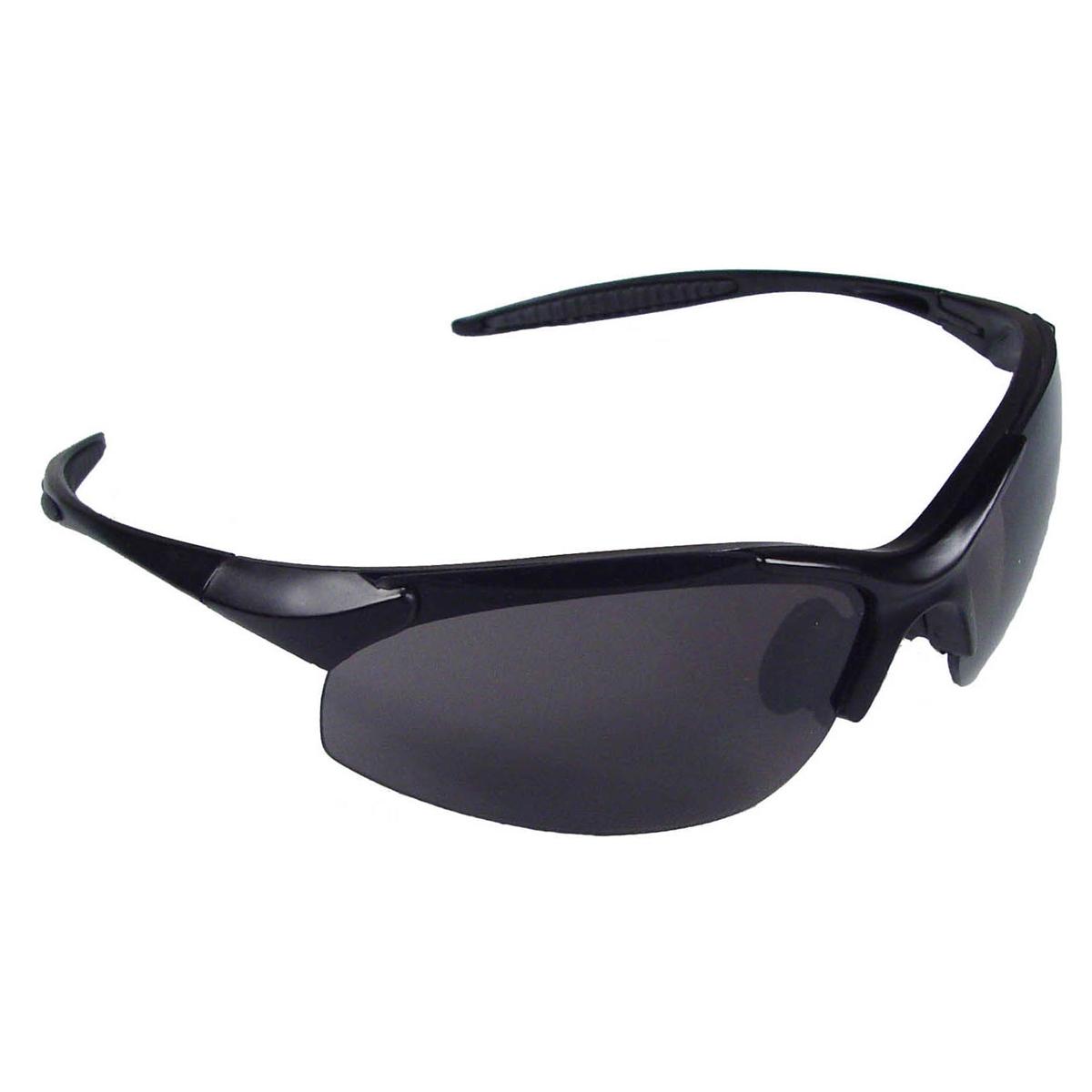 radians eternity shooting glasses black frame smoke