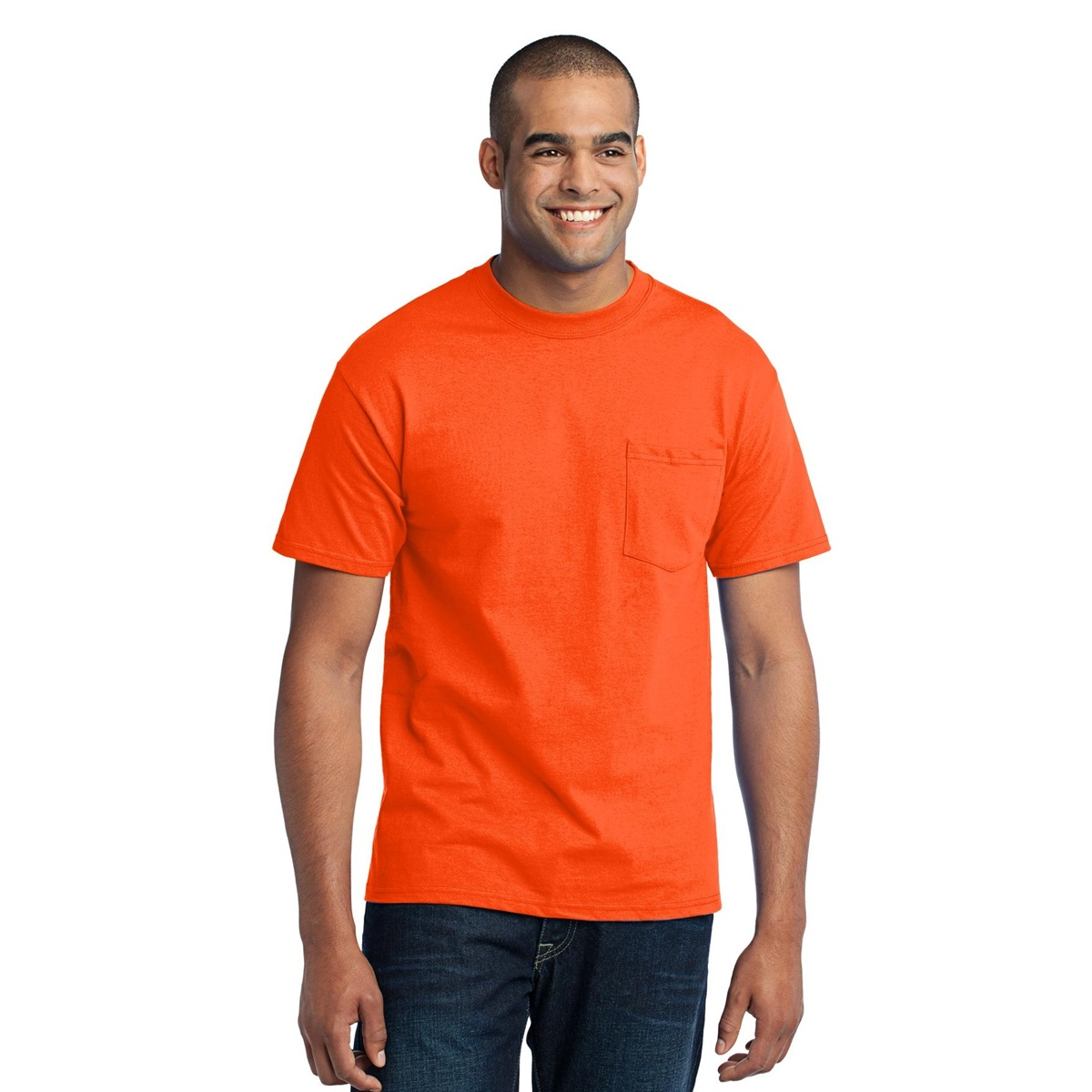 Port Company Pc55p 50 50 Cotton Poly T Shirt With Pocket