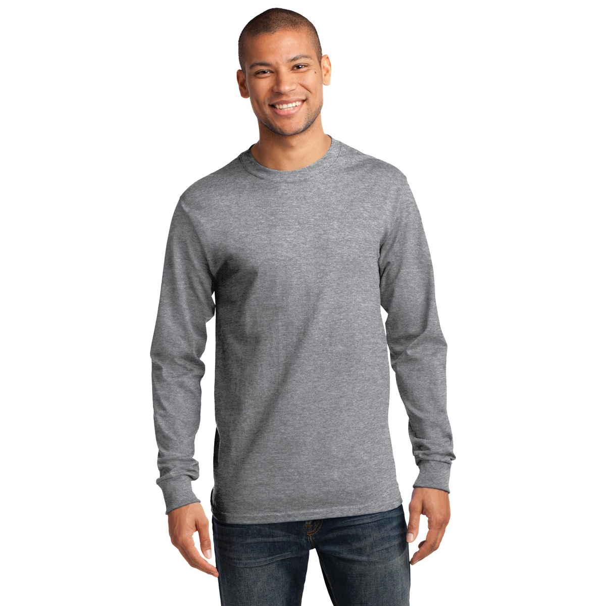 Port company pc61lst tall long sleeve essential t shirt for Big and tall athletic shirts