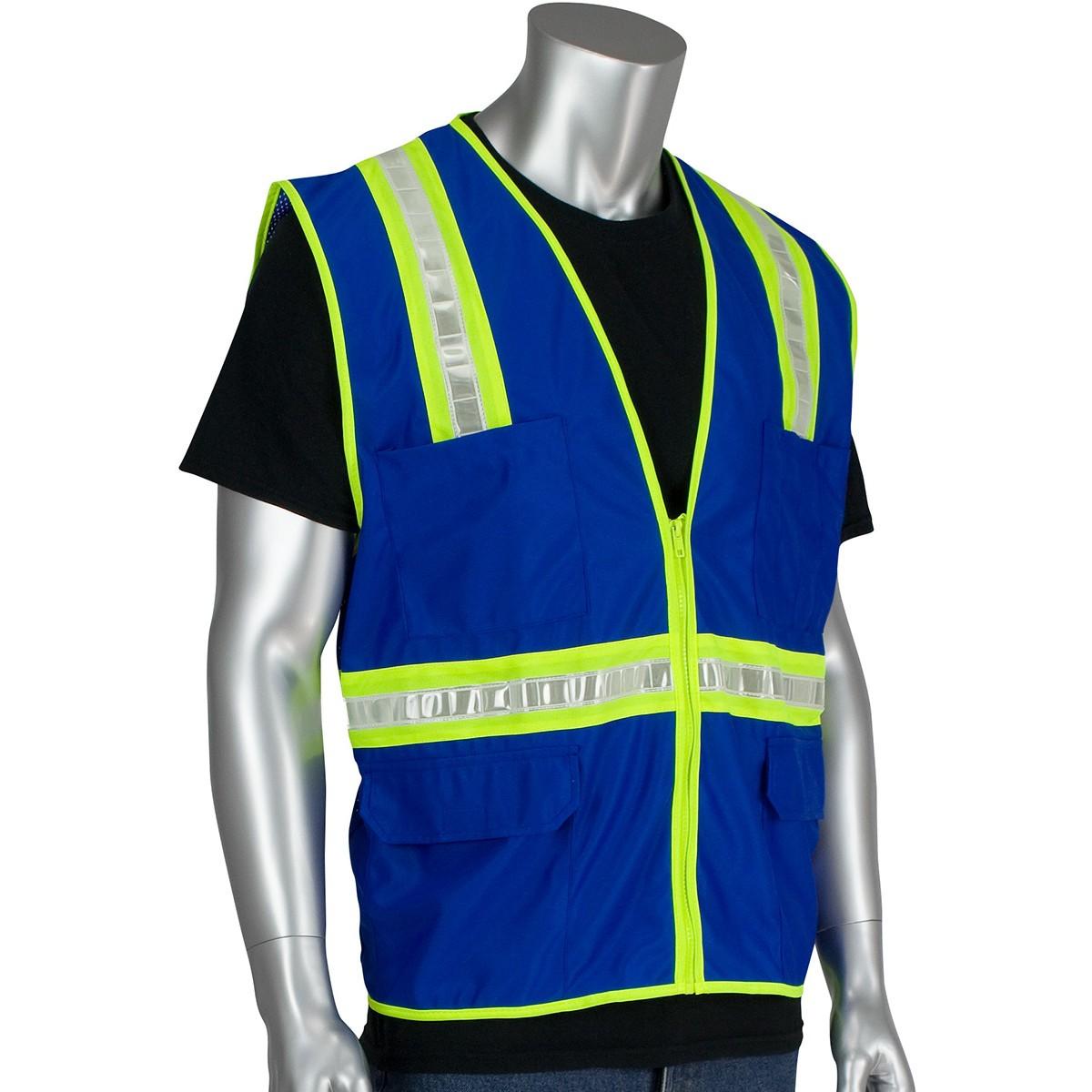 Pip 300 1000 Non Ansi Two Tone Surveyor Safety Vest Blue