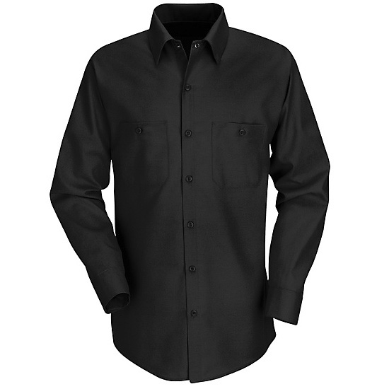 Red Kap Men 39 S Industrial Work Shirt Long Sleeve Black