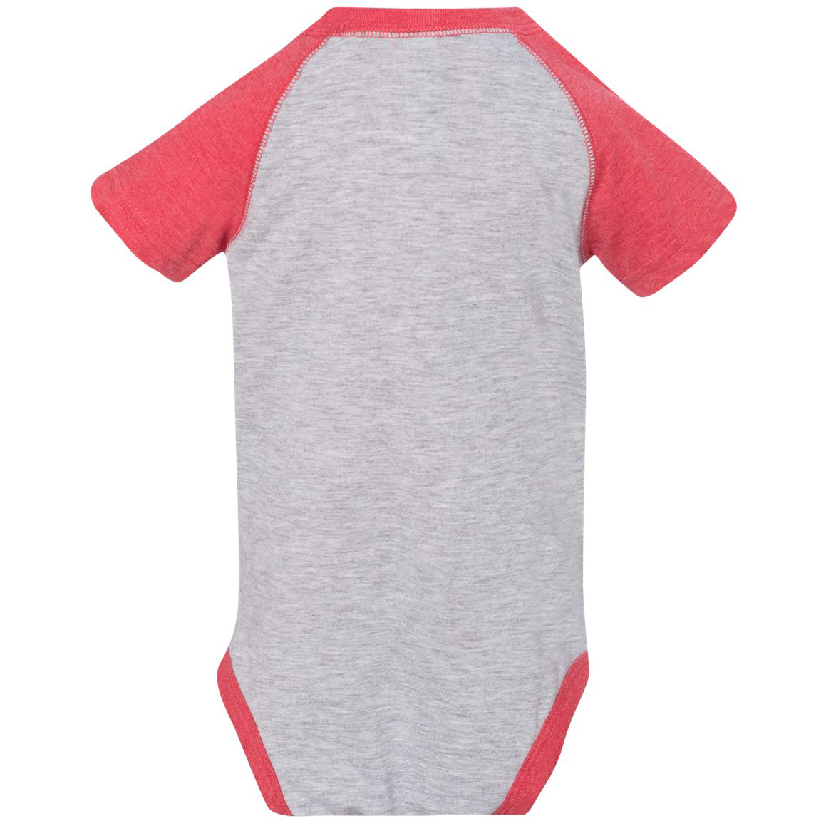 Rabbit Skins  Fine Jersey Infant Three Quarter Sleeve Baseball Bodysuit Vintage Heather