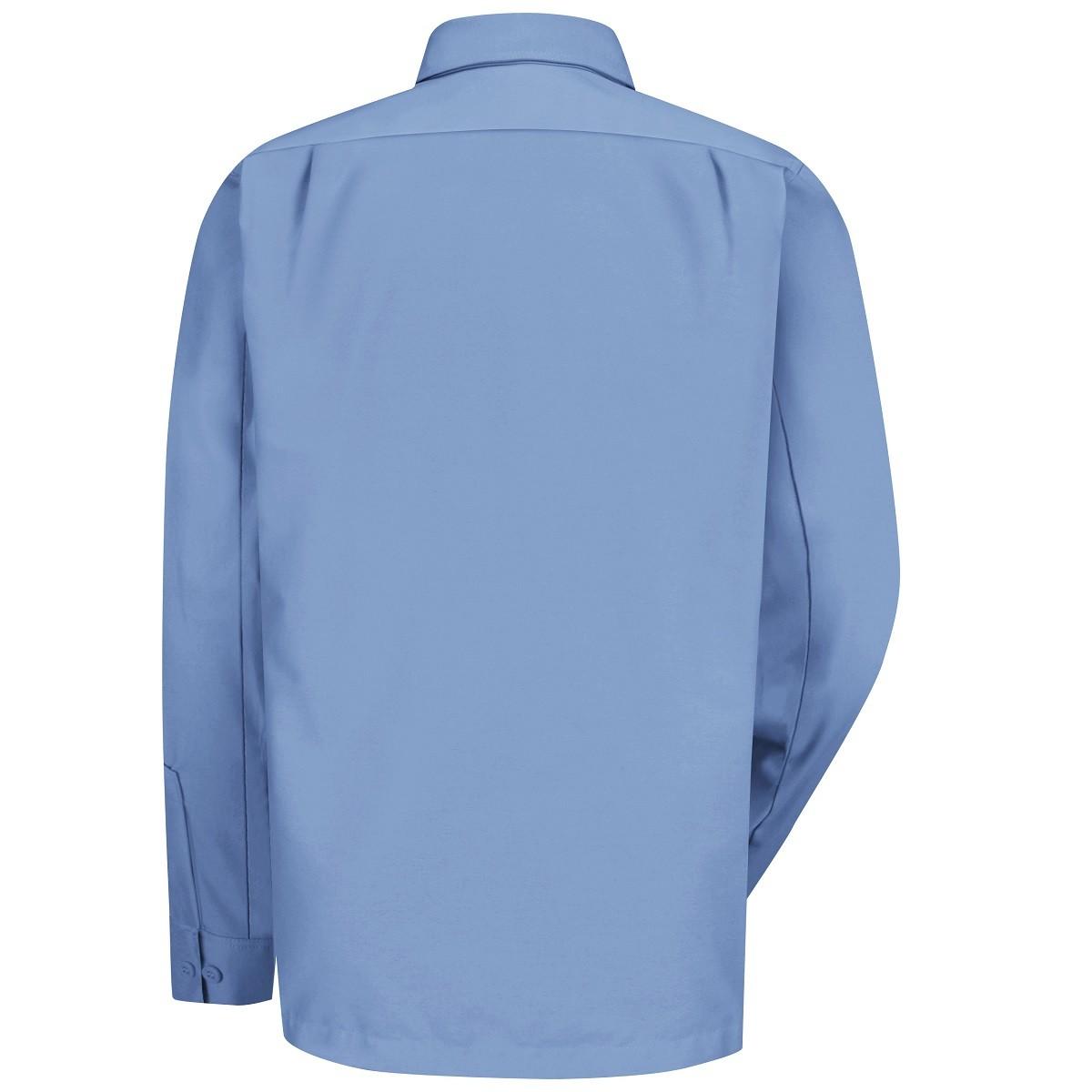 Wrangler Ws10 Men 39 S Long Sleeve Work Shirt Light Blue