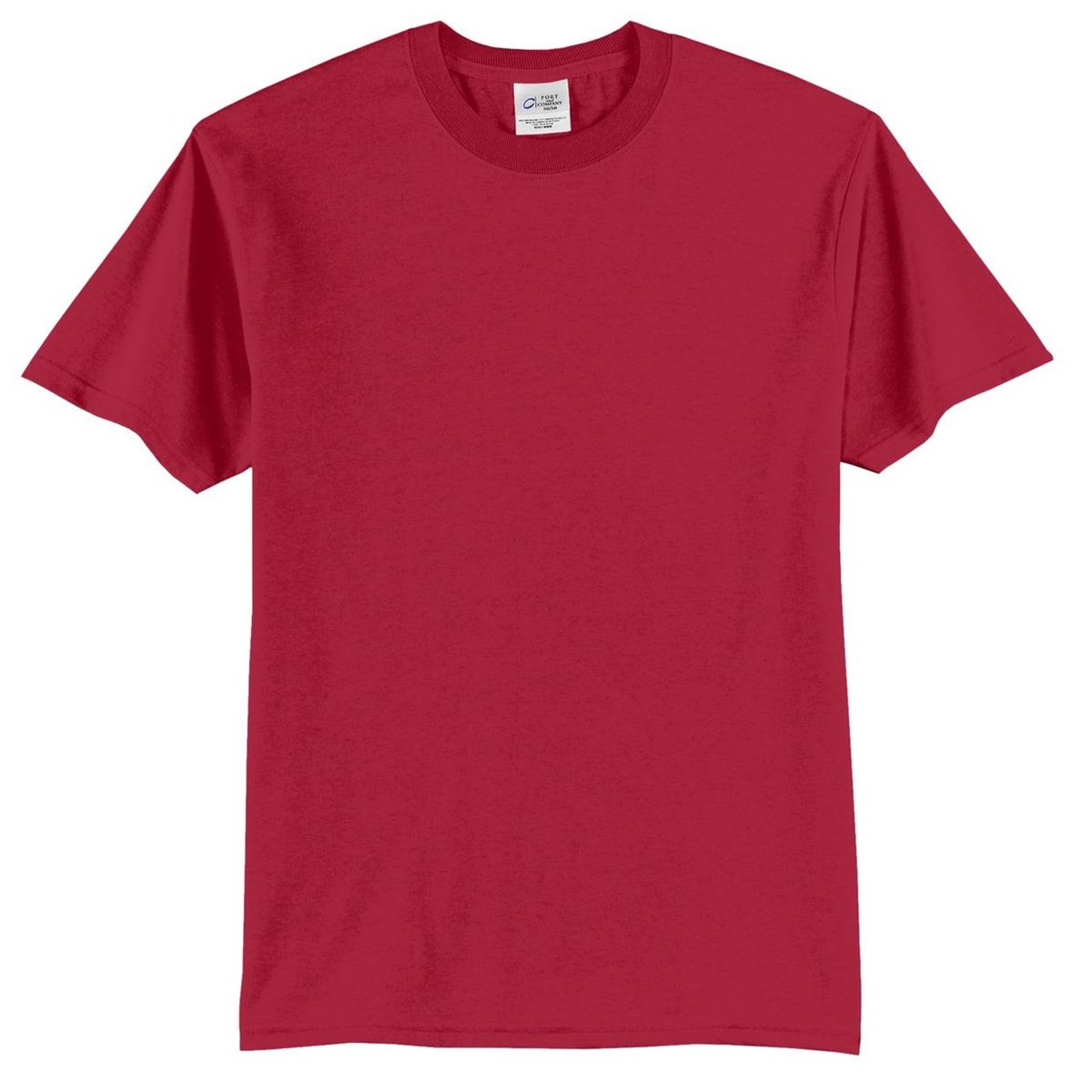 Port Company Pc55 50 50 Cotton Poly T Shirt Red