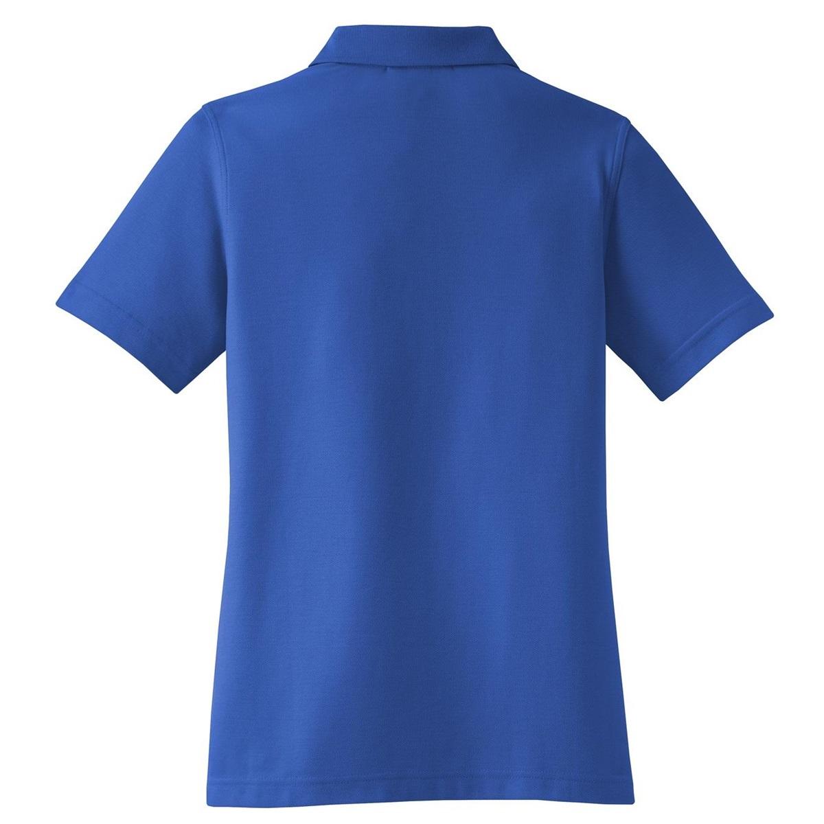 Port authority l800 ladies ezcotton pique polo cobalt for Cobalt blue polo shirt