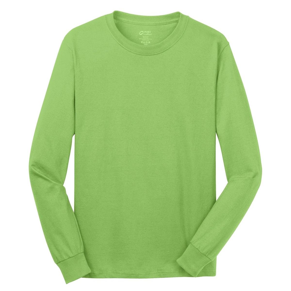 Port Company Pc54ls Long Sleeve 5 4 Oz 100 Cotton T