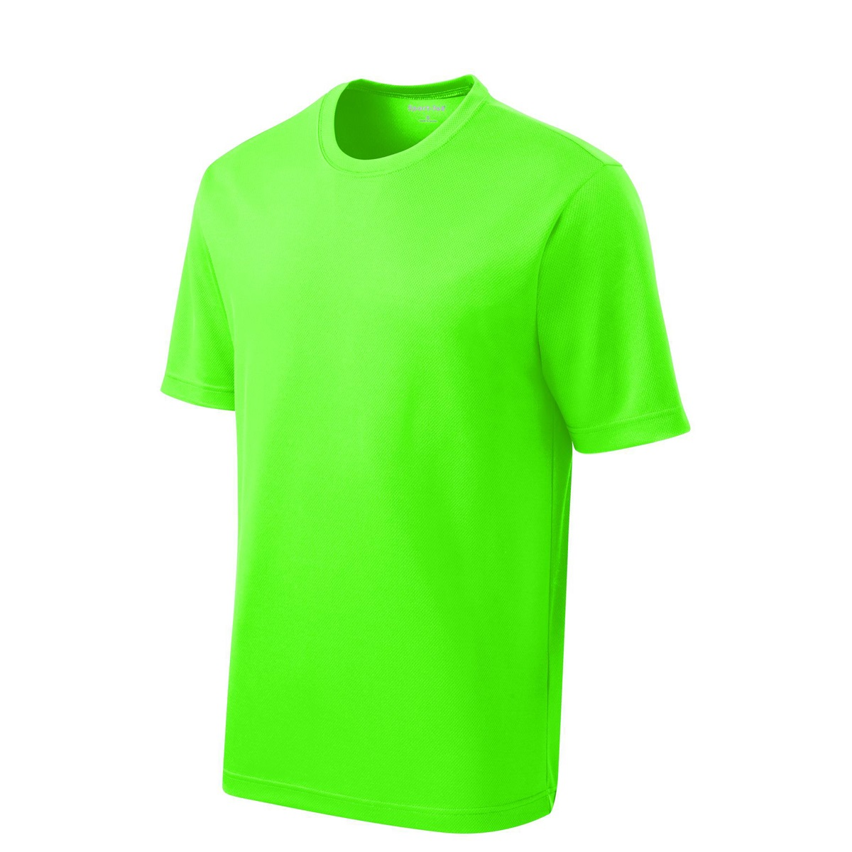 Sport tek st340 posicharge racermesh tee neon green for One color t shirt