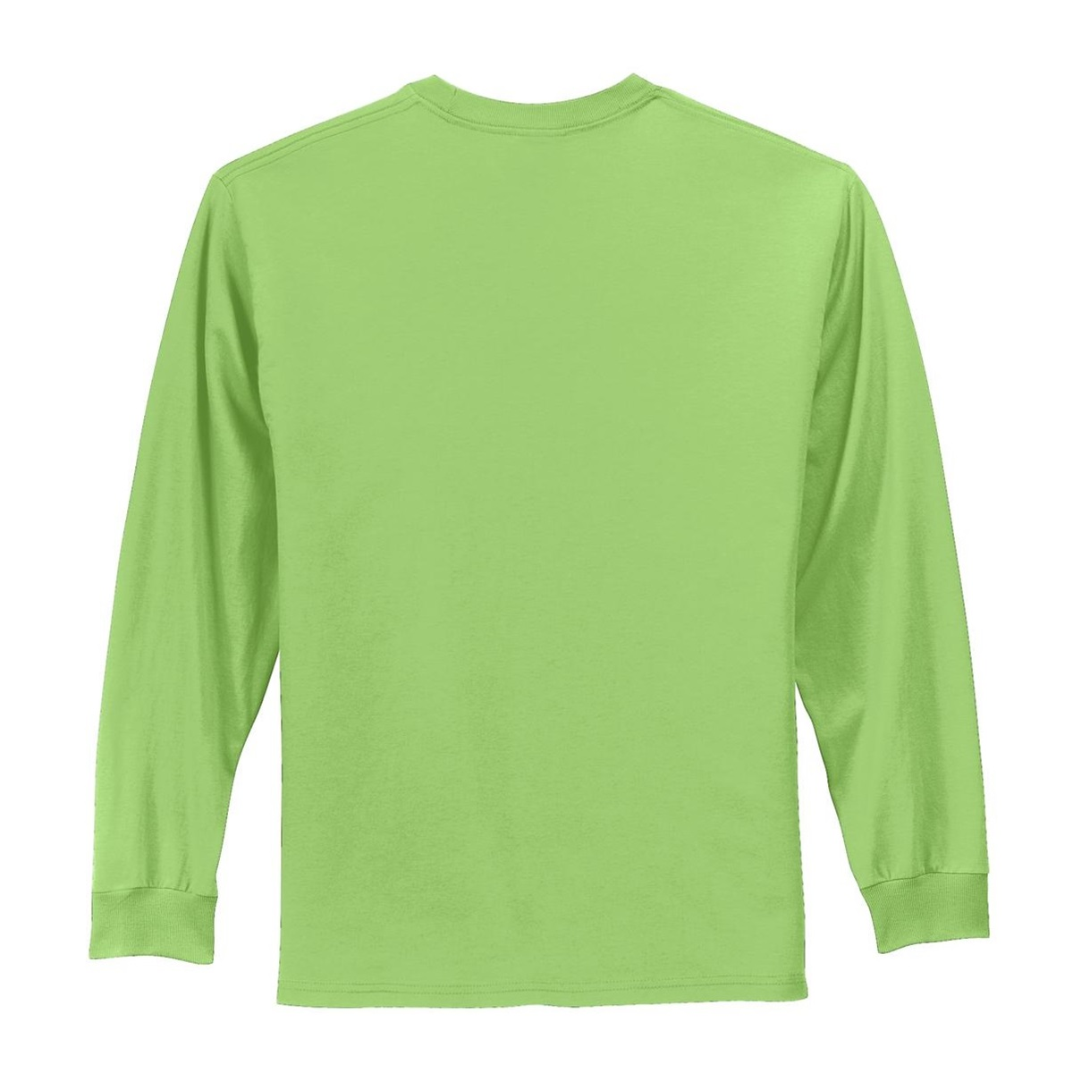 Port Company Pc61ls Long Sleeve Essential T Shirt Lime