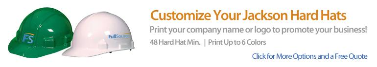 Customized Jackson Safety Hard Hats