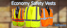 Economy Safety Vests and the Big Savings - ANSI and Non-ANSI Styles