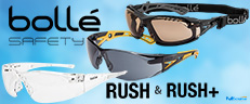 Bolle Rush Safety Glasses - Sporty Anti-Fog Styling