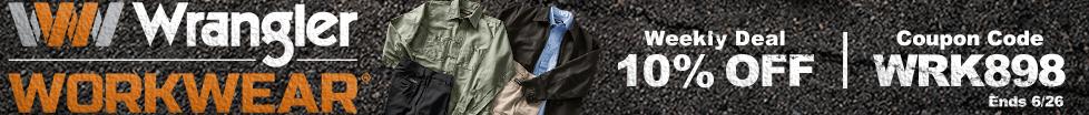 Save on Wrangler Workwear
